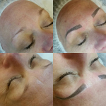 Before and after Microblading.